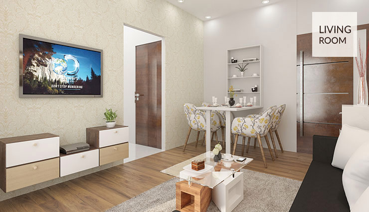 Cj Interio 1 Bhk Interior Design And Furnishing Packages