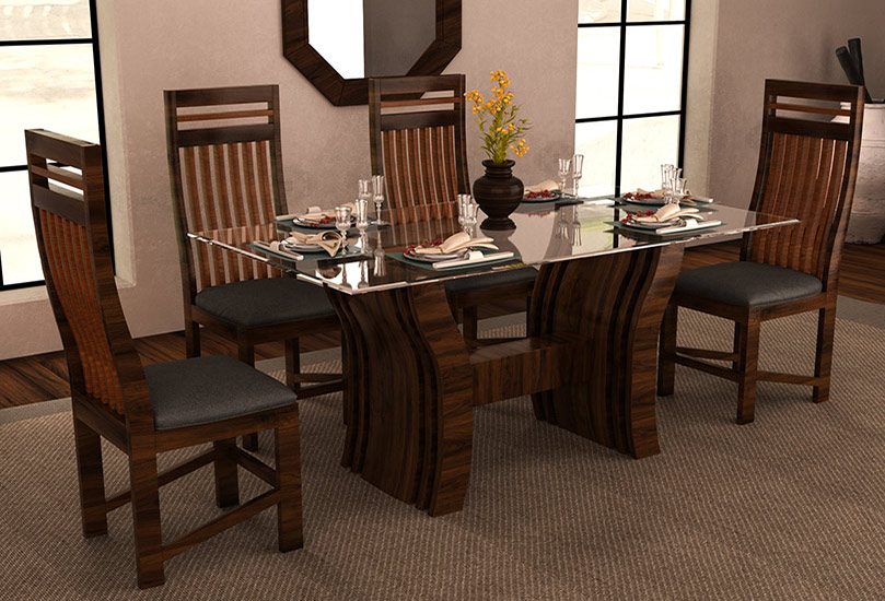 Dining Table Set Teak Wood Wooden Marble Chairs Seater Glass Round Latest Designer Best Sheesham Antique Modern Low Price Furniture Store Navi Mumbai