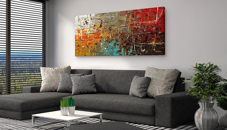 Keep the room idle and sport a wall with a piece of art